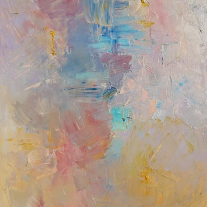 abstract art in pastel colors