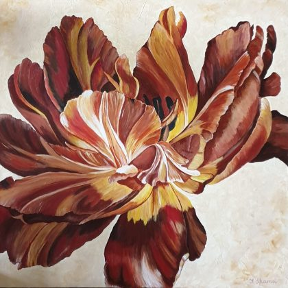 painting of tulip flower